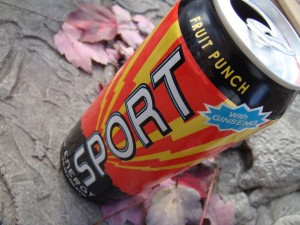 sport fruit punch energy drink